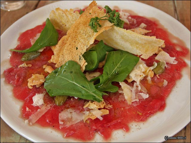 Carpaccio de Res Restaurante In Fraganti Fotos�de�Platos